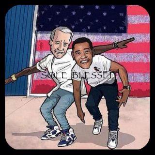 Sneakerhead Barack Obama Joe Biden Poster 20'x30' Air Jordan Retro 6 Olympic 7