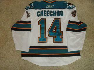 Jonathan Cheechoo San Jose Sharks Game Worn Used Jersey