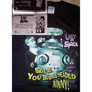 Jonathan Harris Lost in Space T Shirt Autograph