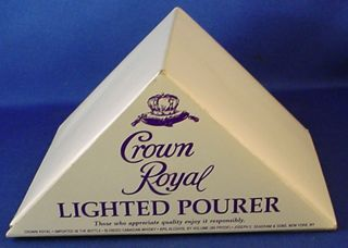 Boxed Crown Royal Lighted Pourer Joseph E Seagram Sons