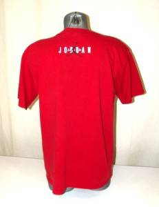 VINTAGE Michael Jordan AIR JORDAN Red Nike Mens Chicago Bulls T Shirt Medium