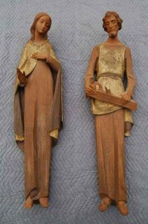 Hand Carved Wood Statue of St Joseph Chalice