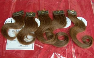 Medium Brown 2 Sets x 2 Jose Eber Human Hair Extension Clip on in Raquel Welch