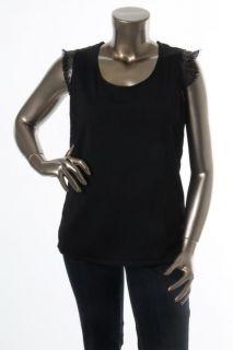 Jones New York NEW Black Lace Trim Sleeveless Pullover Top Shirt Plus 0X BHFO