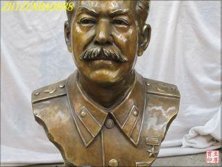 "20""Large Western Bronze Soviet Union Statesman Statue Stalin Josef Stalin"
