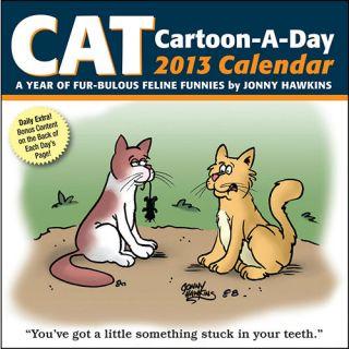 Cat Cartoon A Day 2013 Desk Calendar