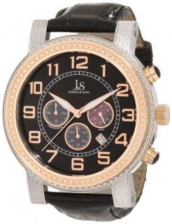 Joshua Sons JS 07 TTR Chronograph Black Strap Date Mens Watch