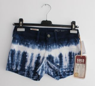 Sold Design Lab Bleeker Baby Short Mini Cut Off Tie Dye Jean Denim Hot Pant