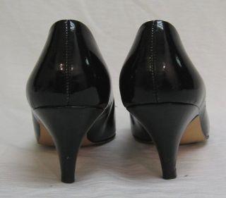 Vtg Joyce Glam Black Patent Leather Shoe Pump 7 5 Cute