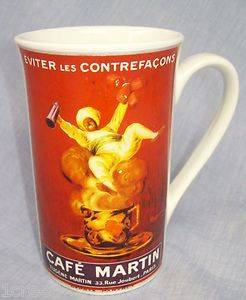 Cafe Martin Eugene 33 Rue Paris Joubert Slim Tall Cup Mug Westwood Cafe Arte