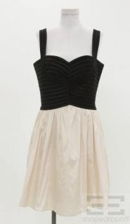 JS Collections Black Ribbed Satin Pink Sweetheart Dress Size 10
