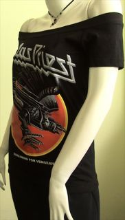 JUDAS PRIEST Screaming Metal DIY Women Top Shirt size M