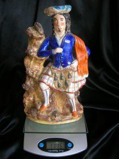 19thC Staffordshire figure Antique Collectible Pottery 1860s Ceramic Porcelain  