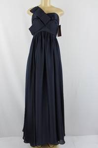 JS Collections women dress full length strapless navy blue size 14