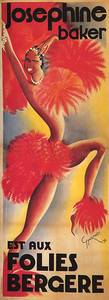 JOSEPHINE BAKER SHOW FOLIES BERGERE DANCE FRENCH VINTAGE POSTER REPRO 6 X16