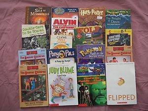 lot Pokemon HARRY POTTER Judy blume Pony Pals FLIPPED Boxcar Children Magic tree