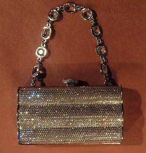 Judith Leiber New w Tags Austrian Clear Crystal Beaded Clutch Evening Bag $2495