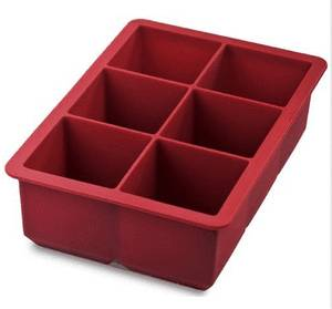 NEW Extra Large Silicone Ice Cube Tray Freeze Juices Fruits Red QUICK SHIP