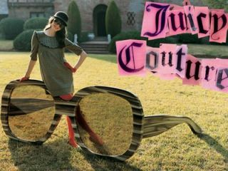 NEW AUTHENTIC JUICY COUTURE TAYLOR S JHR RJ PINK STRIPES BROWN SUNGLASSES