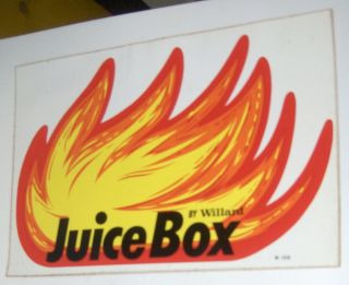 WILLARD JUICE BOX ORIGINAL STICKER DECAL NASCAR RACING RAT ROD HARD