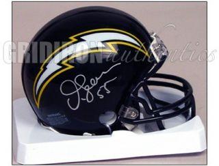 Junior Seau RARE Autographed San Diego Chargers Mini Helmet