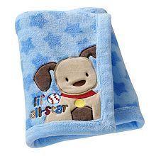 Just Born So Soft Lil All Star Fleece Blanket Blue Brand New