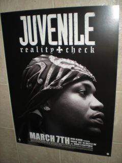 Juvenile Reality Check Poster for The Album CD Rap