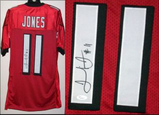 Julio Jones Signed Autographed Atlanta Falcons Red Jersey JSA Witness