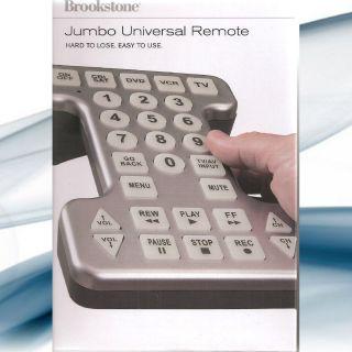 Brookstone 83594 SKU New Jumbo Universal Remote Control