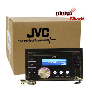 JVC KW XR810 RB CD MP3 iPod iPhone Control USB Aux Bluetooth Receiver