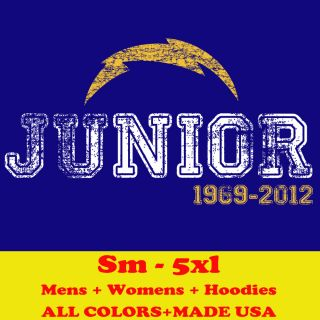 H1149 Rip Junior Seau San Diego Chargers Jersey Card M L XL 2X 3X