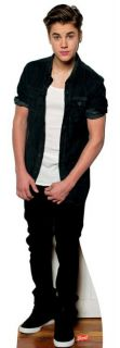 NEW JUSTIN BIEBER LONG HAIR LIFESIZE CARDBOARD STANDEE STAND UP