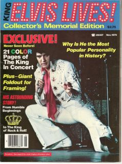 King Elvis Lives Collectors Memorial Edition,21 Color Pages Of The