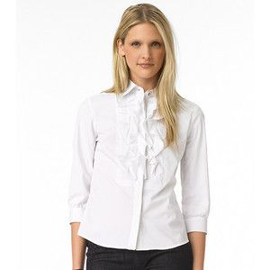265 Tory Burch Justine White Blouse Ruffle Shirt Top 4 US
