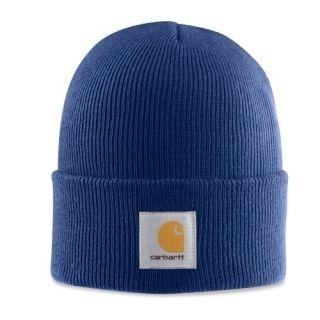 Carhartt Dark Cobalt Blue Sock Watch Cap Hat Beanie New A18
