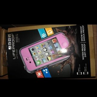 New Lifeproof iPhone 4 4S Case Pink and Gray Life Proof Case