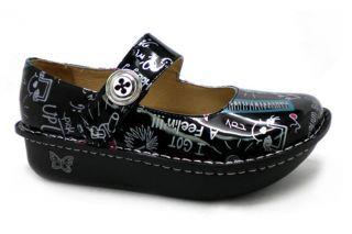Alegria Womens Paloma Rock Star Black Mary Jane Shoe PAL 353s New with