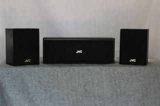 JVC SP X30 Home Theater Center Channel and Rear Surround Speakers