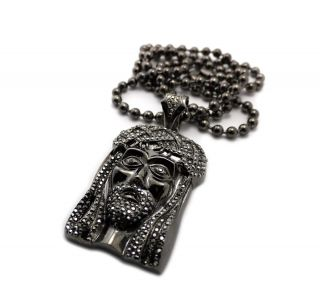 Jay Z Kanye West Black Jesus Piece 6mm 36 Ball Chain