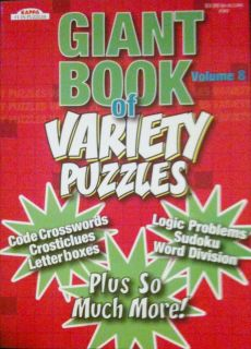 Kappa Puzzles Giant Book of Variety Puzzles Book Brand New