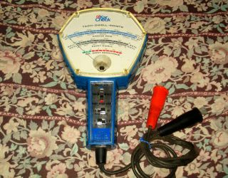 Take A Look Vintage Kar Check Tach Dwell Points Engine RPM Tester