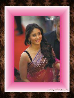Designer Indian Women Wear Saree Sari Bollywood Fashion Kareena