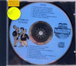 Tribute to Elvis Karaoke CD G Music Maestro 6266