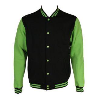 Urban Classics College Varsity Jacket Black Green