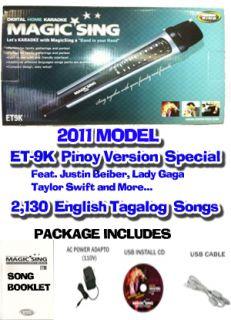 2011 Model Magic Sing Karaoke Et 9K 2130 Tagalog English Songs