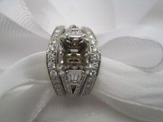 Fine Diamond 14KARAT White Gold Semi Mount Engagement Ring