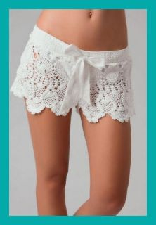 Letarte Crochet Shorts $148 Kate Hudson Beach Cover Up Boho S