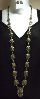 Emerald Valley Turquoise Long Necklace Earrings Set Kathleen Chavez