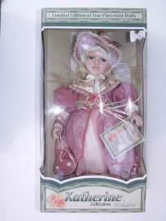 KATHERINE Collection TIMELESS TREASURES Fine PORCELAIN DOLL 2002 AGES