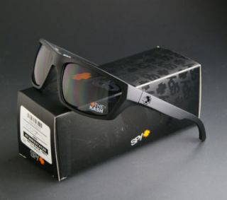 New Spy Optic Kash Sunglasses Matte Black Frame w Grey Lenses